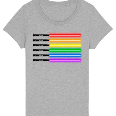 Arcoiris sable de luz (camiseta chica)